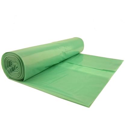 Worki na odpadki śmieci grube 50 mikr. wytrzymałe rolka 25szt. - zielone 70L