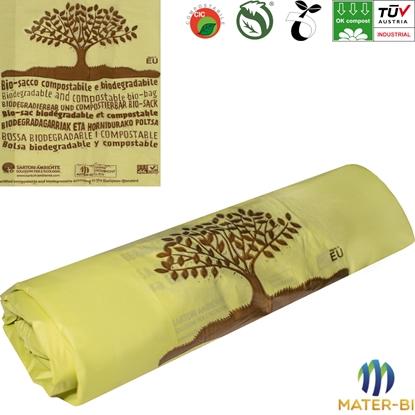 EKO Worki na BIO śmieci do kompostowania biodegradowalne 40L - 20 szt.
