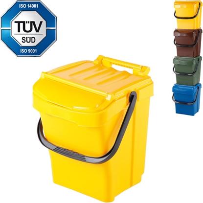 Kosz pojemnik do segregacji sortowania śmieci URBA PLUS 40L - żółty