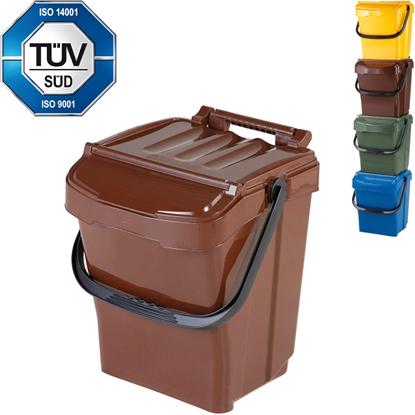 Kosz pojemnik do segregacji sortowania śmieci na BIO odpady URBA PLUS 40L - brązowy