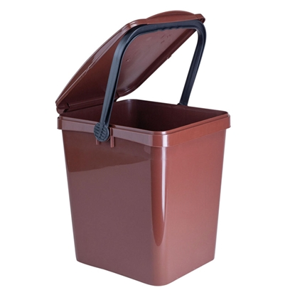Kosz pojemnik do segregowania sortowania BIO odpadków URBA 21L - brązowy
