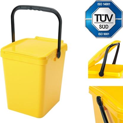 Kosz pojemnik do segregacji sortowania śmieci i odpadków - żółty Urba 21L