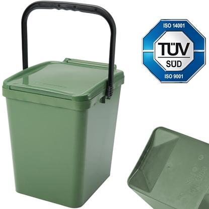 Kosz pojemnik do segregacji sortowania śmieci i odpadków - zielony Urba 21L