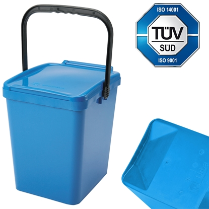 Kosz pojemnik do segregacji sortowania śmieci i odpadków - niebieski Urba 21L