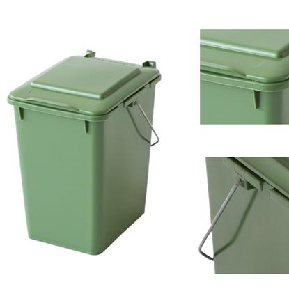 Kosz pojemnik do segregacji sortowania śmieci i odpadków - zielony 10L