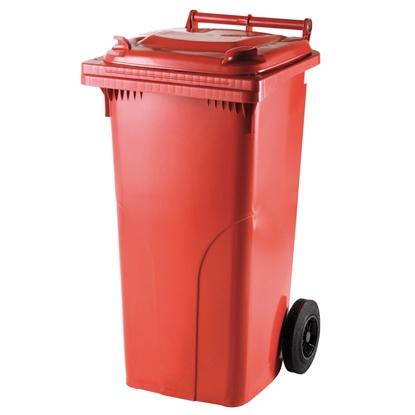 Pojemnik kubeł na odpady i śmieci ATESTY Europlast Austria - czerwony 120L