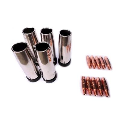 Części zapasowe do spawarek MIG/MAG zestaw 15 elem.