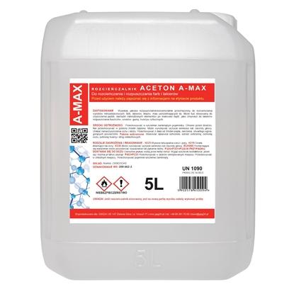 Aceton rozpuszczalnik zmywacz A-MAX 5L