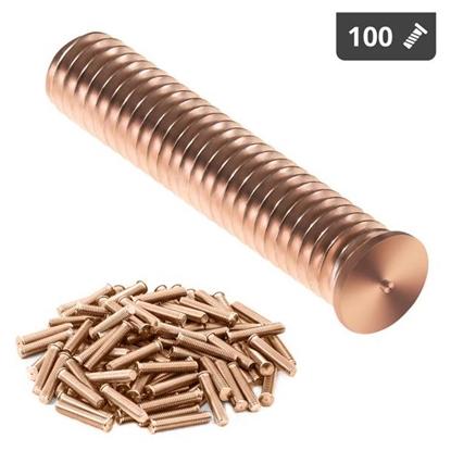 Kołki do zgrzewania zgrzewarki przypawarki ze stali miedziowanej M8 40mm Stamos Germany 100 szt.