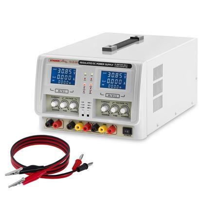Zasilacz laboratoryjny warsztatowy regulowany źródło prądu z 3 trybami pracy 315W 230V Stamos Soldering S-LS-24