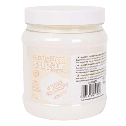 Cukier do waty cukrowej biały o smaku kokosowym 1kg
