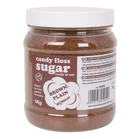 Kolorowy cukier do waty cukrowej brązowy naturalny smak waty cukrowej 1kg