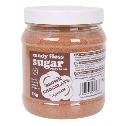 Kolorowy cukier do waty cukrowej brązowy o smaku czekoladowym 1kg