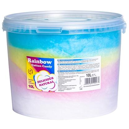 Kolorowa tęczowa wata cukrowa Rainbow Cotton Candy 10L