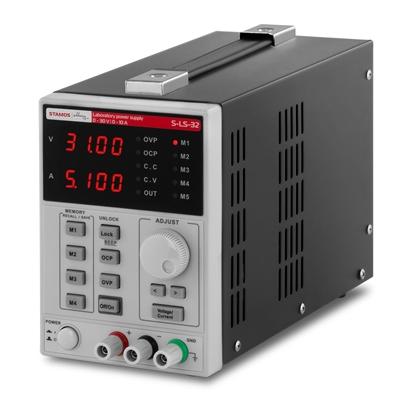 Zasilacz laboratoryjny z funkcją pamięci 0-30VDC 0-10A S-LS-32