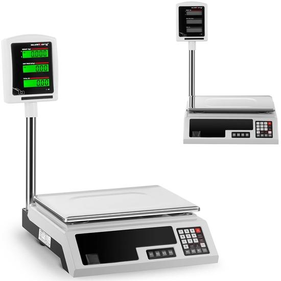 Waga sklepowa platformowa 34x23cm zasilacz + akumulator 30kg / 1g