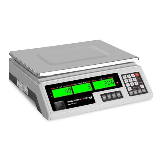Waga sklepowa kontrolna 339x233mm zasilacz + akumulator 40kg / 2g - biała