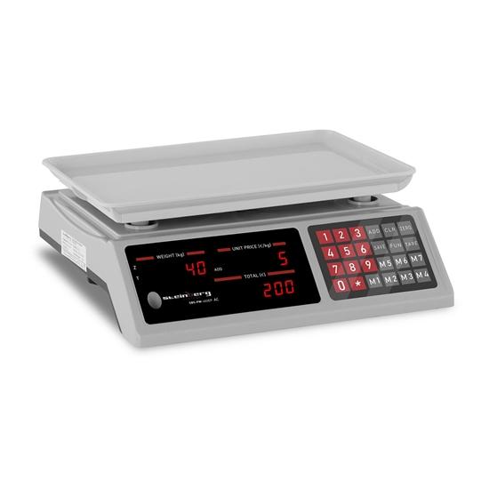 Waga sklepowa licząca sztuki 336x238mm zasilacz + akumulator 40kg / 2g - biała