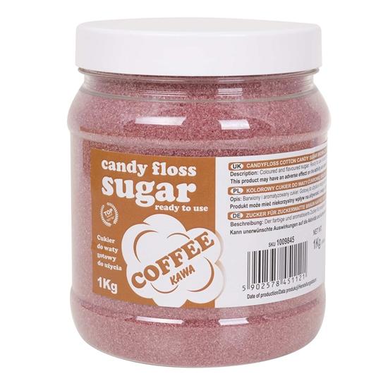Kolorowy cukier do waty cukrowej brązowy o smaku kawy 1kg