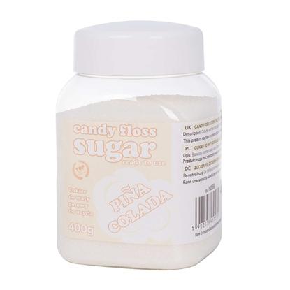 Cukier do waty cukrowej biały o smaku pina colada 400g