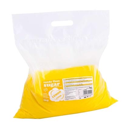 Kolorowy smakowy cukier do waty cukrowej żółty o smaku cytrynowym 5kg