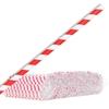 Papierowe patyczki do waty cukrowej 6/270mm - biało-czerwone 500szt.