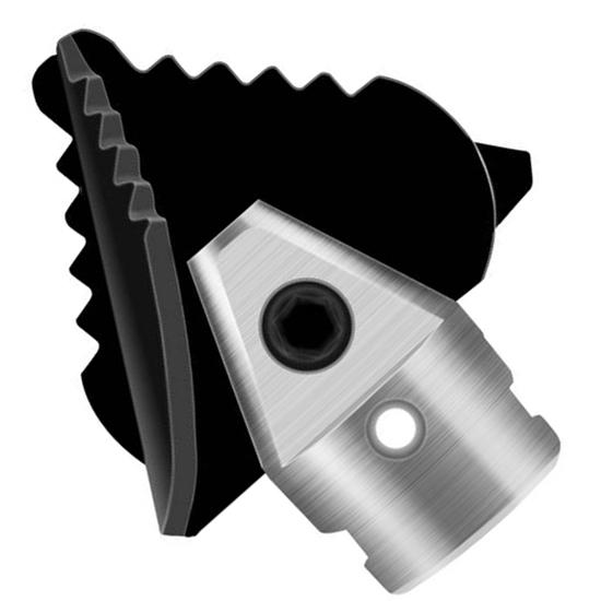 Wiertło zębate krzyżowe do spirali przepychacza żmijki do rur 22 mm MSW