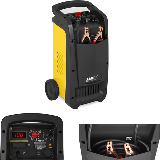 Prostownik rozruchowy do akumulatorów samochodowych Timer 12/24V 100A rozruch 480A
