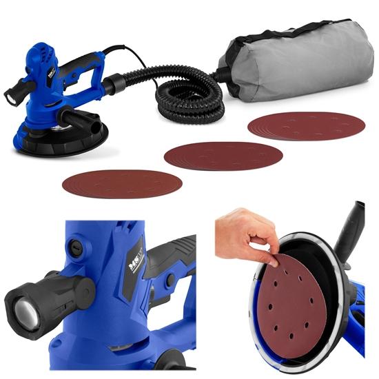Szlifierka do tynków gładzi gipsu bezpyłowa z odkurzaczem 750W śr. 180mm