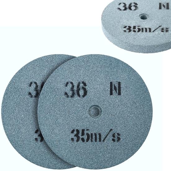 Kamień szlifierski ściernica tarcza do szlifowania ziarnistość 36 śr. 150 x 16mm 2 szt.