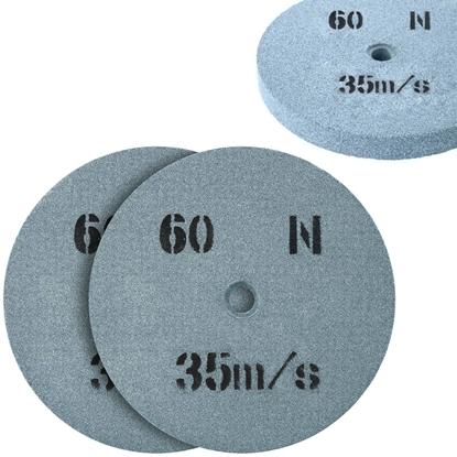 Kamień szlifierski ściernica tarcza do szlifowania ziarnistość 60 śr. 150 x 16mm 2 szt.