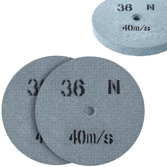 Kamień szlifierski ściernica tarcza do szlifowania ziarnistość 36 śr. 200 x 20mm 2 szt.