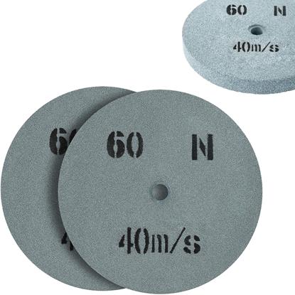 Kamień szlifierski ściernica tarcza do szlifowania ziarnistość 60 śr. 200 x 20mm 2 szt.
