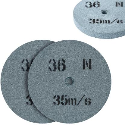 Kamień szlifierski ściernica tarcza do szlifowania ziarnistość 36 śr. 150 x 20mm 2 szt.