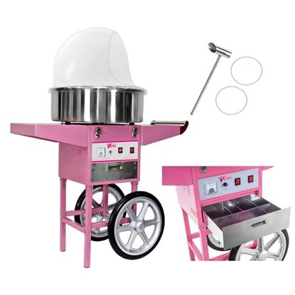 Mobilna maszyna do waty cukrowej z wózkiem