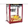 Barowa maszyna do popcornu z czarnym daszkiem