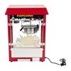 Barowa maszyna do popcornu z czerwonym daszkiem