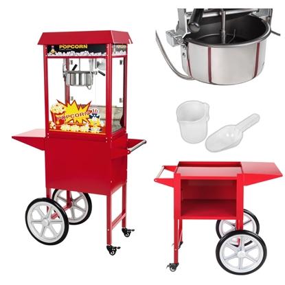 Mobilna maszyna do popcornu z wózkiem na kółkach