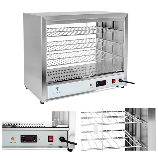 Witryna grzewcza ekspozycyjna ciepłej żywności 1000W szer. 64cm