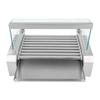 Grill rolkowy z pokrywą roller grill podgrzewacz do parówek 9 rolek