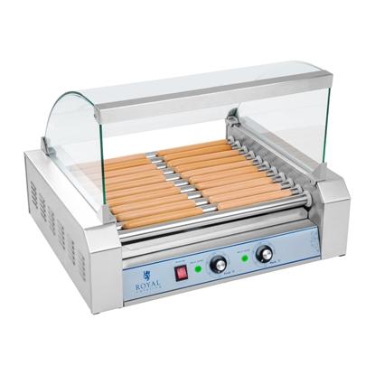 Grill rolkowy z pokrywą roller grill podgrzewacz do parówek 11 rolek