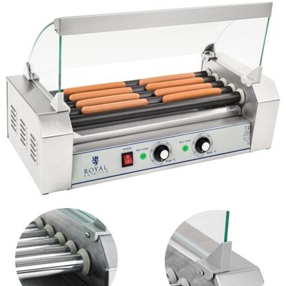 Grill rolkowy z szybą Roller grill z rolkami z teflonu 5T
