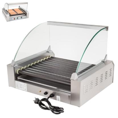 Grill rolkowy z szybą Roller grill z rolkami z teflonu 11T