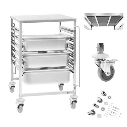 Gastronomiczny wózek do transportu pojemników 6x GN2/1