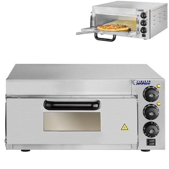 Piec do pizzy 1x40cm jednokomorowy 2000W 230V Timer 120min Royal Catering