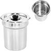 Wkład garnek z pokrywką stalowy do bemaru podgrzewacza do zupy 3.8L