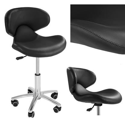 Krzesło kosmetyczne mobilne na kółkach Physa ANDRIA czarne