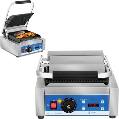 Kontakt grill elektryczny kontaktowy z wyświetlaczem LED żeliwne płyty 1800W