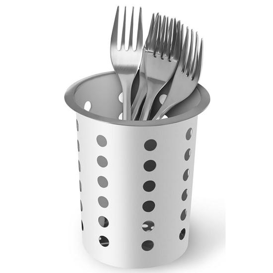 Wkład pojemnik na sztućce widelce łyżki perforowany ze stali nierdzewnej Royal Catering