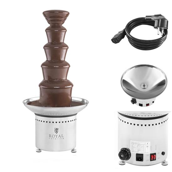Fontanna czekoladowa do czekolady 5 pięter 6kg Royal Catering RCCF-65W4